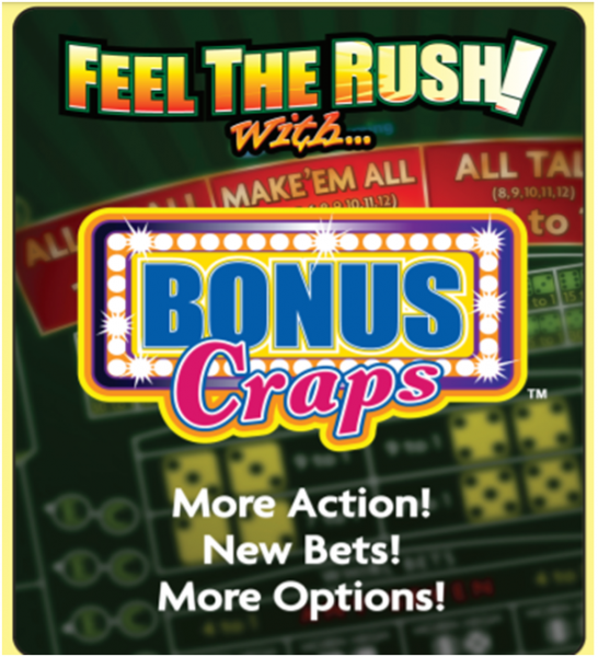 How many bets does bonus craps have