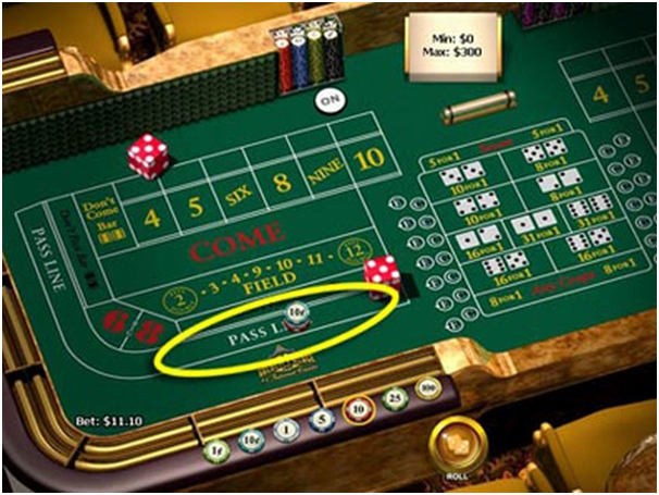 Craps Bets- The Pass Line Bet