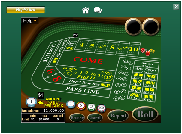 Play online Craps with AUD at Fair Go