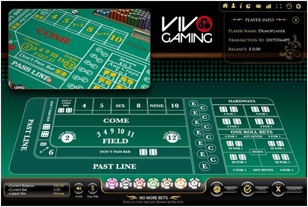 How to Play Vivo Gaming Live Craps Online?