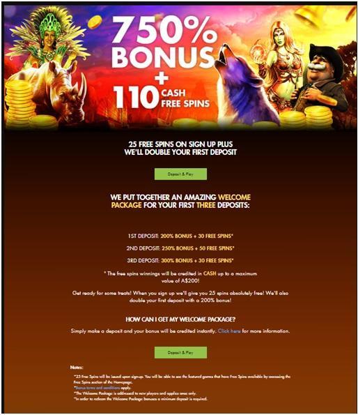 Rich casino 750% Bonus
