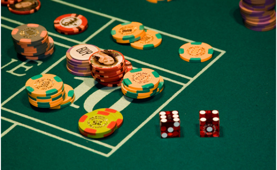 Chips At Craps Table
