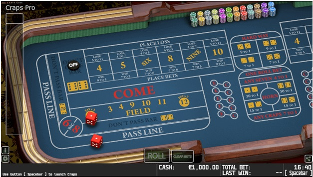 Bet Variants of Craps at New Jersey Online Casino