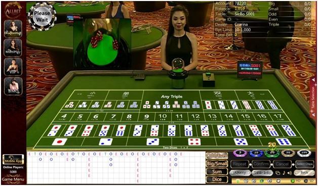 Sic Bo and Craps at Live Casinos